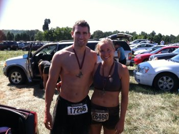 Warrior Dash with my future husband.