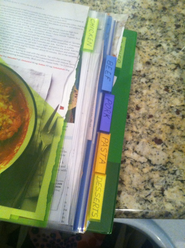 My recipe binder.